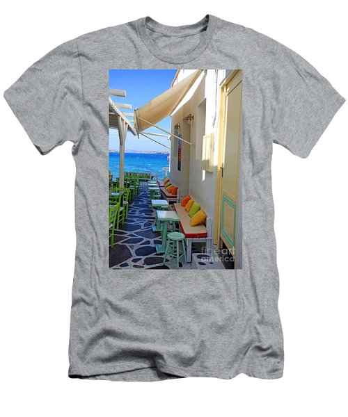 0560 Mykonos Greece Men's T-Shirt (Athletic Fit)