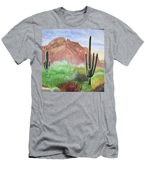2 Saguaros Men's T-Shirt (Athletic Fit)