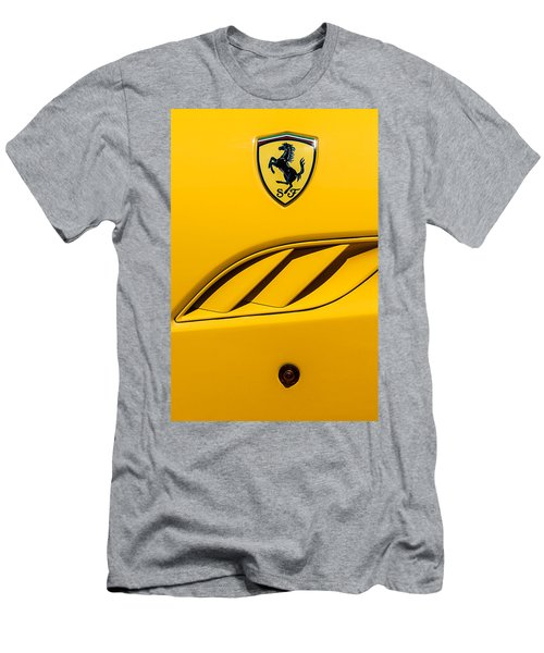 Men's T-Shirt (Athletic Fit) featuring the photograph 2010 Ferrari California Side Emblem by Jill Reger