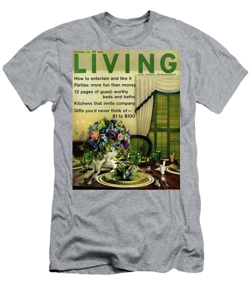 A Table Setting With A Floral Centerpiece Men's T-Shirt (Athletic Fit)