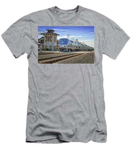 Amtrak 112 Men's T-Shirt (Slim Fit) by Jim Thompson