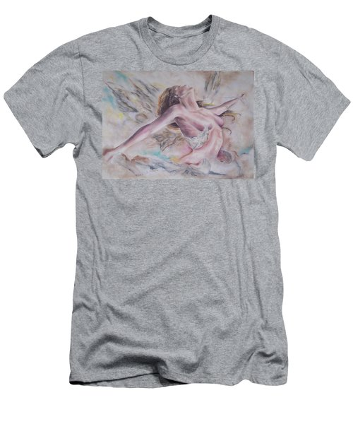 Men's T-Shirt (Slim Fit) featuring the pastel Angel Burst by Peter Suhocke