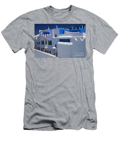 Men's T-Shirt (Slim Fit) featuring the photograph Asilah Meaning Authentic In Arabic Fortified Town On Northwest Tip Of Atlantic Coast Of Morocco by Ralph A  Ledergerber-Photography