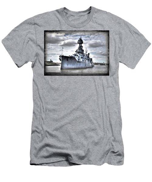 Battleship Texas Men's T-Shirt (Slim Fit) by Savannah Gibbs