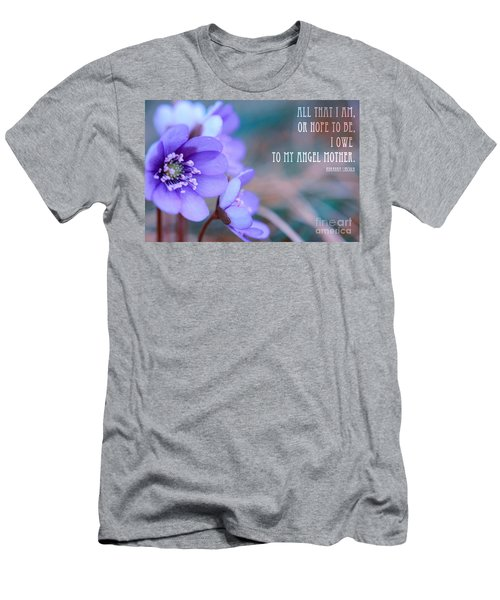 Blue Springtime Flowers Mother's Day Men's T-Shirt (Athletic Fit)