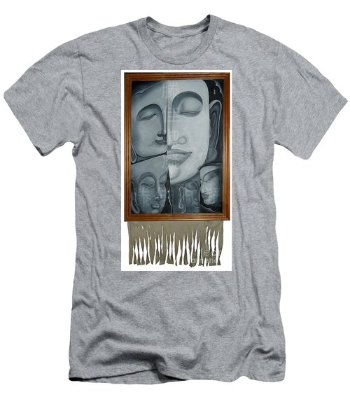 Buddish Facial Reactions Men's T-Shirt (Athletic Fit)