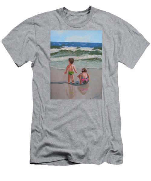 Children On The Beach Men's T-Shirt (Athletic Fit)