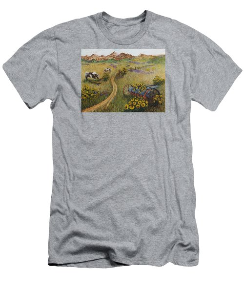 Cows Grazing Men's T-Shirt (Slim Fit) by Katherine Young-Beck