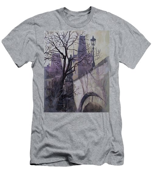 Dusk At The Charles Bridge Men's T-Shirt (Athletic Fit)