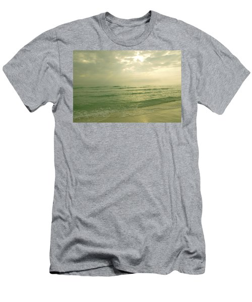 Men's T-Shirt (Slim Fit) featuring the photograph Florida Beach by Charles Beeler