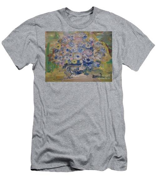 Flow Bleu Men's T-Shirt (Slim Fit) by Laurie L