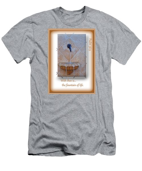 Men's T-Shirt (Slim Fit) featuring the photograph Fountain Of Life by Larry Bishop