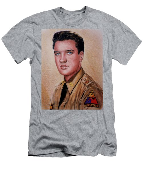 G I Elvis  Men's T-Shirt (Athletic Fit)
