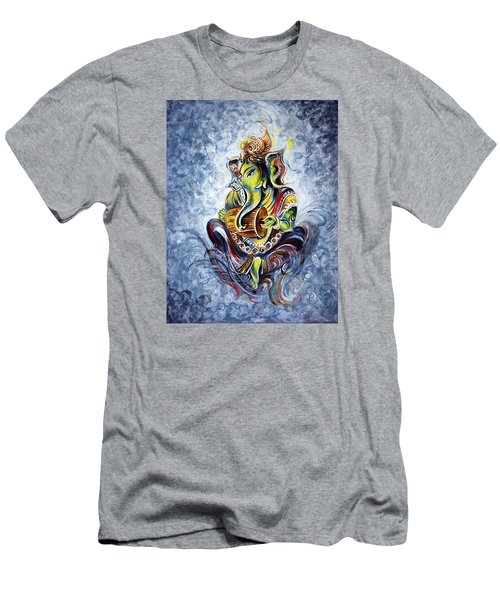 Musical Ganesha Men's T-Shirt (Slim Fit)