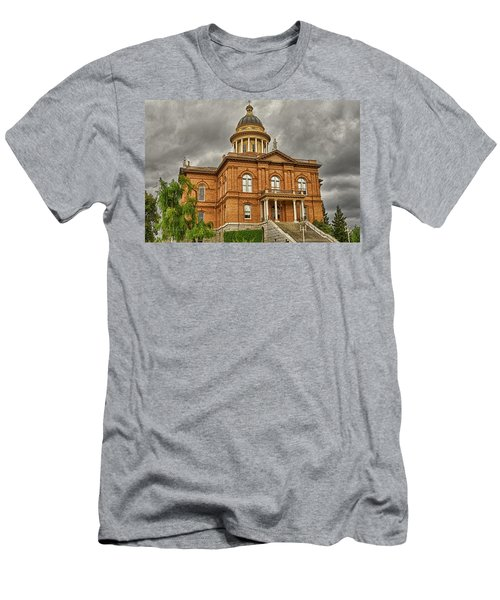 Historic Placer County Courthouse Men's T-Shirt (Slim Fit) by Jim Thompson
