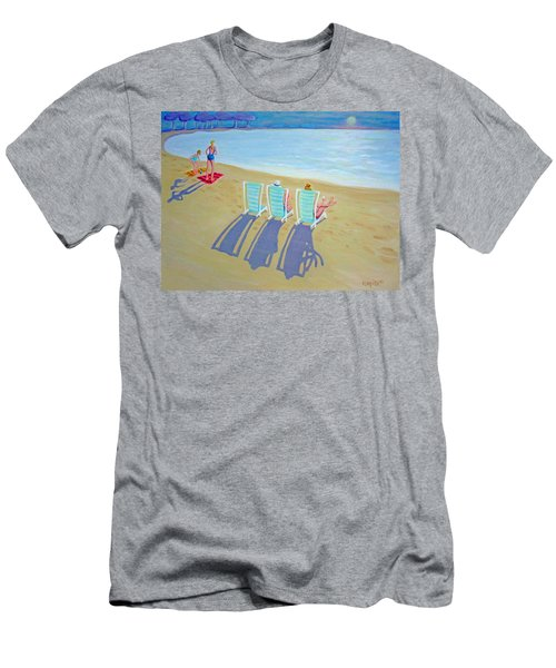 Sunset On Beach - Last Rays Men's T-Shirt (Athletic Fit)
