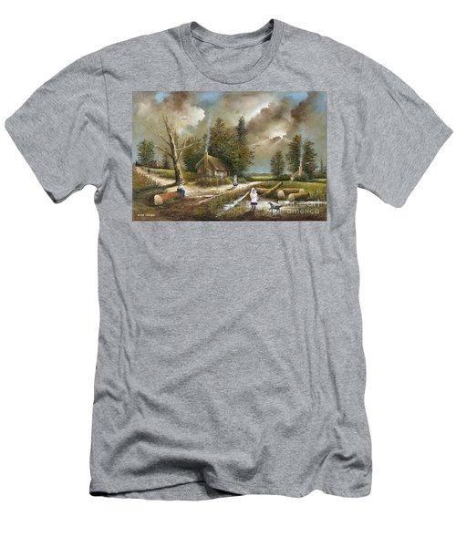 Lightening Tree Men's T-Shirt (Athletic Fit)