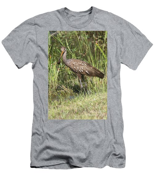 Limpkin In The Glades Men's T-Shirt (Slim Fit) by Christiane Schulze Art And Photography