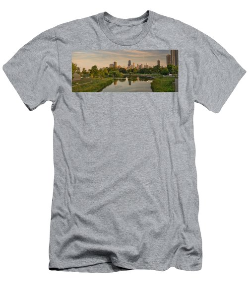 Lincoln Park Lagoon Chicago Men's T-Shirt (Athletic Fit)