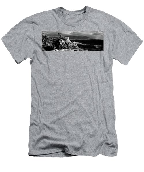 Lone Cypress On The Coast, Pebble Men's T-Shirt (Athletic Fit)