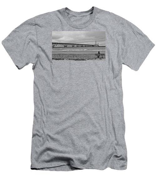 Looking North Men's T-Shirt (Slim Fit) by Daniel Thompson