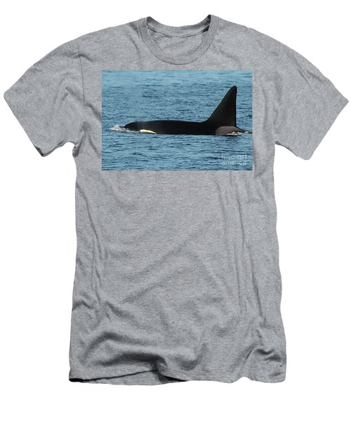 Men's T-Shirt (Slim Fit) featuring the photograph Male Orca Killer Whale In Monterey Bay California 2013 by California Views Mr Pat Hathaway Archives