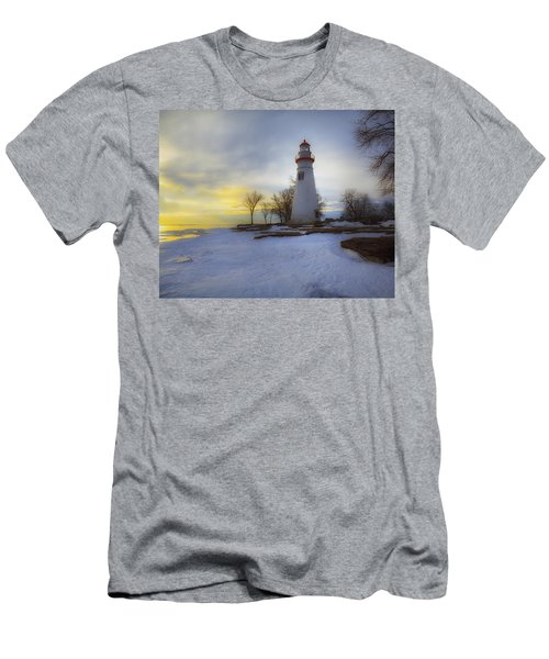 Marblehead Lighthouse Lake Erie Men's T-Shirt (Athletic Fit)