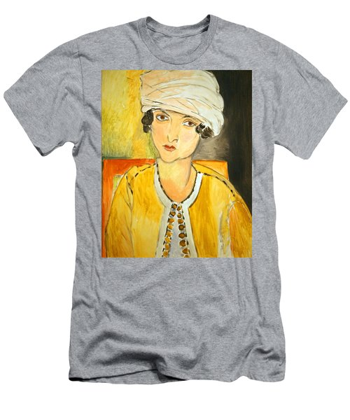 Matisse's Lorette With Turban And Yellow Jacket Men's T-Shirt (Athletic Fit)