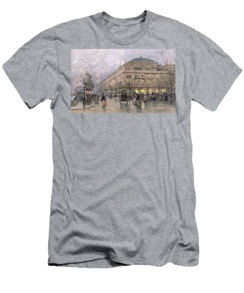 Parisian Street Scene Men's T-Shirt (Slim Fit) by Eugene Galien-Laloue