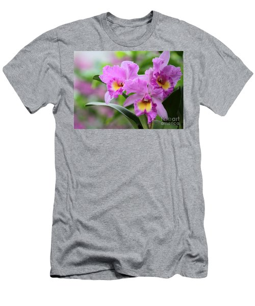 Pink Orchids Men's T-Shirt (Athletic Fit)