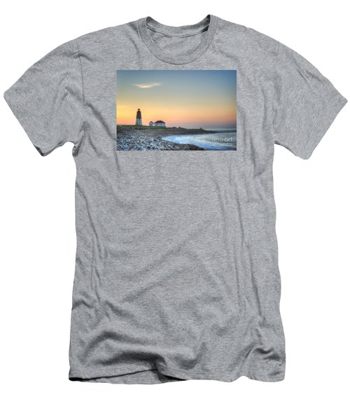 Point Judith Lighthouse Men's T-Shirt (Slim Fit) by Juli Scalzi