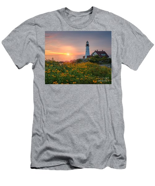 Portland Head Light Sunrise  Men's T-Shirt (Athletic Fit)