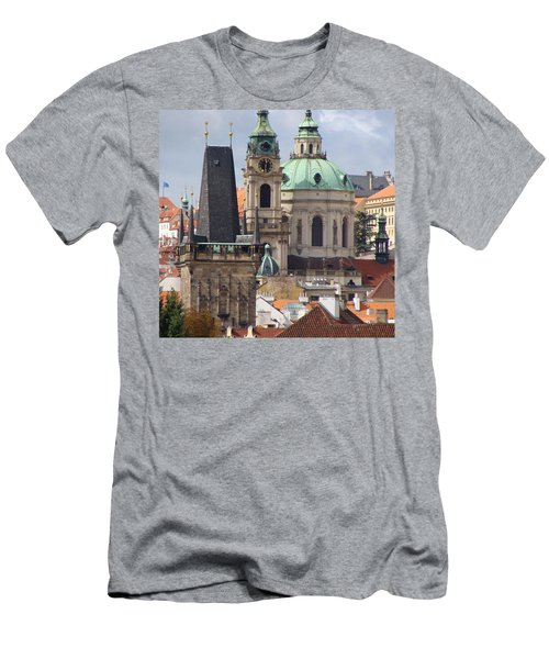Men's T-Shirt (Slim Fit) featuring the photograph Prague by Ira Shander