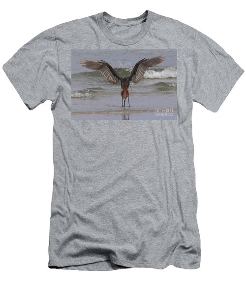 Reddish Egret Fishing Men's T-Shirt (Athletic Fit)