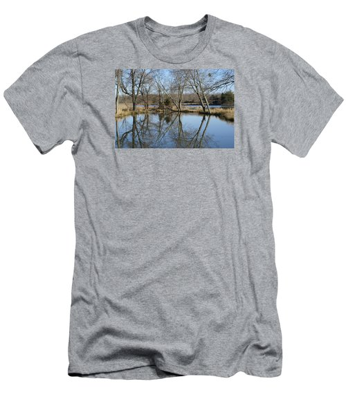 Men's T-Shirt (Slim Fit) featuring the photograph Reflection by Heidi Poulin