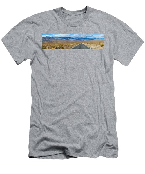 Road Passing Through A Desert, Death Men's T-Shirt (Slim Fit) by Panoramic Images
