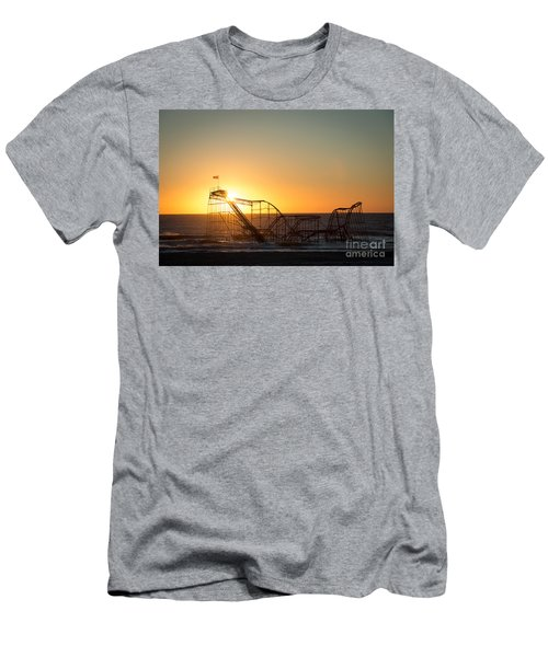 Roller Coaster Sunrise Men's T-Shirt (Athletic Fit)