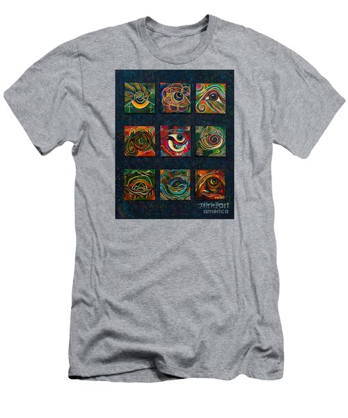 Men's T-Shirt (Slim Fit) featuring the painting Spirit Eye Collection II by Deborha Kerr