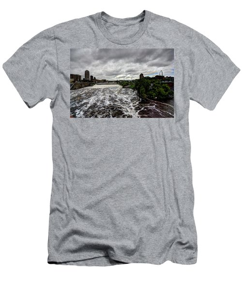 St Anthony Falls Men's T-Shirt (Slim Fit) by Amanda Stadther