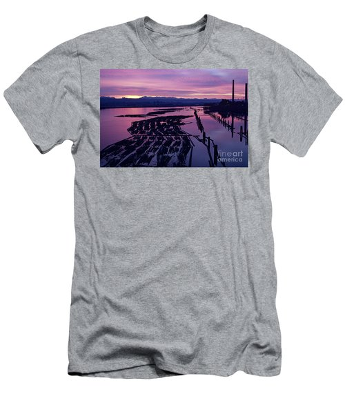 Sunrise Lumber Mill Men's T-Shirt (Athletic Fit)