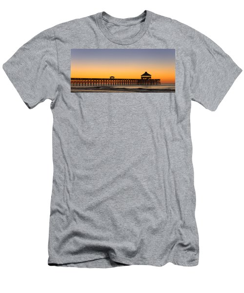 Sunrise Pier Men's T-Shirt (Athletic Fit)
