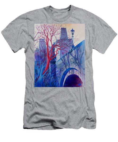 The Charles Bridge Blues Men's T-Shirt (Athletic Fit)