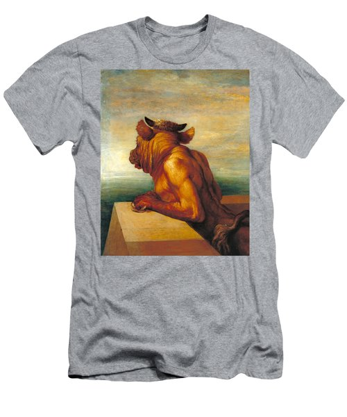 The Minotaur Men's T-Shirt (Slim Fit) by George Frederic Watts