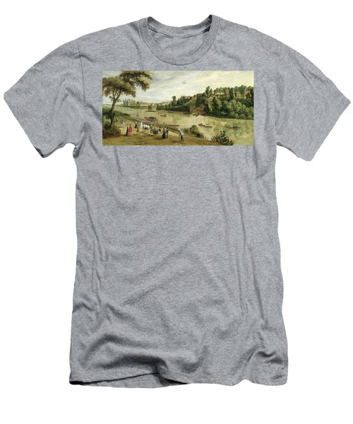 The Thames At Richmond, With The Old Men's T-Shirt (Athletic Fit)