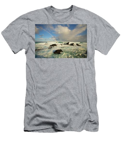 Usa, Hawaii, Rainbow Offshore Men's T-Shirt (Athletic Fit)