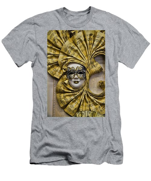 Venetian Carnaval Mask Men's T-Shirt (Slim Fit) by David Smith