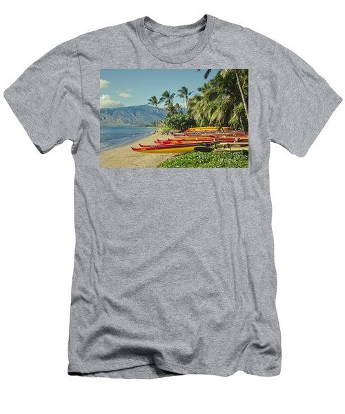 Men's T-Shirt (Athletic Fit) featuring the photograph Kenolio Beach Sugar Beach Kihei Maui Hawaii  by Sharon Mau