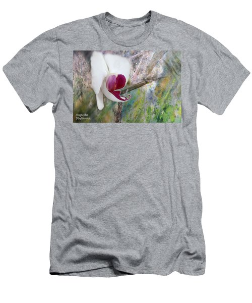 White Orchid Abstract Men's T-Shirt (Athletic Fit)