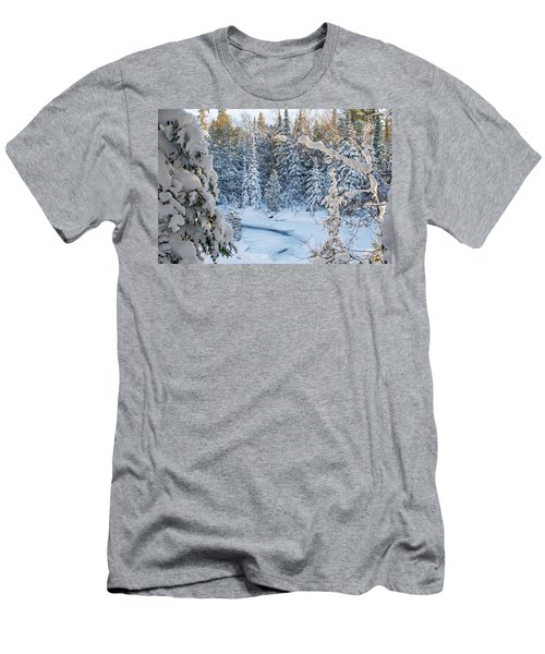 Winter At Grand Marais Creek Men's T-Shirt (Athletic Fit)