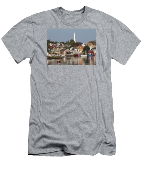 New Castle Harbor Nh Men's T-Shirt (Athletic Fit)